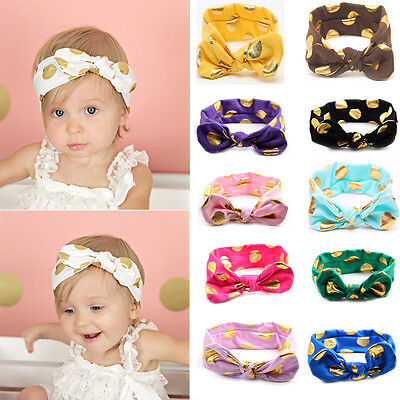 Cute Girl Kids Baby Toddler Turban Knot Rabbit Headband Bow Hairband Head Band