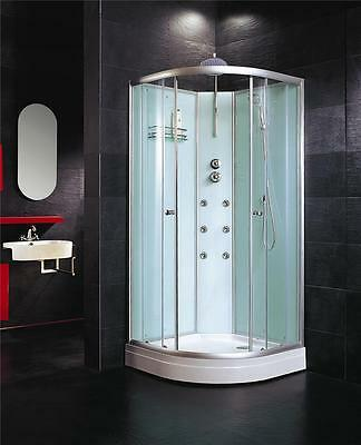 800mm Corner Entry Quadrant Shower Enclosure Cubicle Complete Cabin Tray Mixer