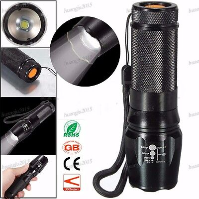 Torch XML-T6 LED 5 Modes Adjustable Focus Flashlight Zoomable Lamp Super Bright