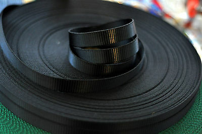 Black Polyester webbing 10mm TEMPORARILY OUT OF STOCK