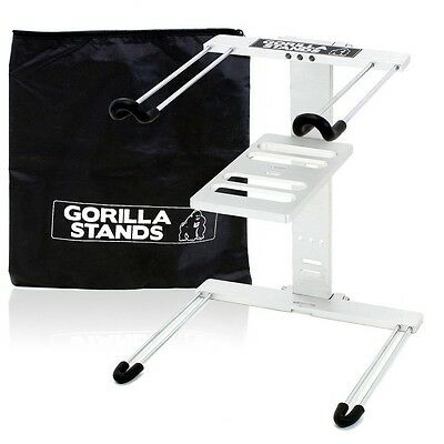 Gorilla High Rise DJ Laptop Stand With Shelf & Carry Case Foldable Uber Style