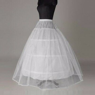 White 3 hoop 2 Layer petticoat Crinoline Underskirt bridal wedding dress Gown