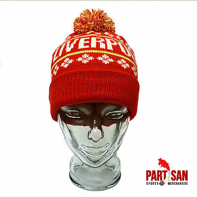 Liverpool Bobble Hat Red