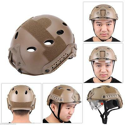 Fine Military Tactical Airsoft Paintball SWAT Protective Fast Helmet With Goggle