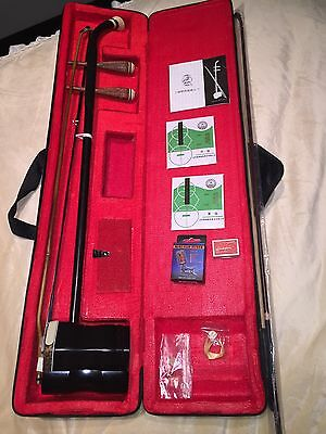 New Erhu Chinese Violin Traditional Instrument Er Hu& Free Tuner-free shipping