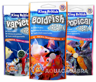 King British Treats Goldfish Tropical Variety Food Supplement Aquarium Fish Tank