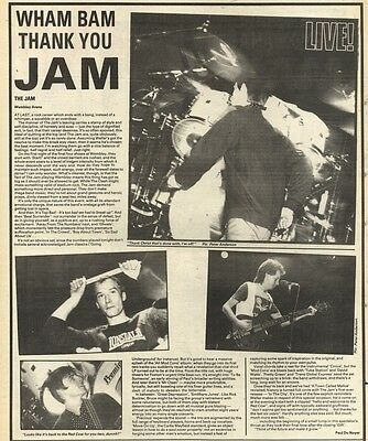 11/12/82Pgn39 Review & pictures: The Jam Live At Wembley Arena