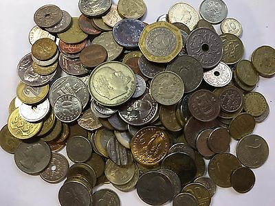 Set Lot Of 33 Different Type Foreign World Coins /free Shipping/