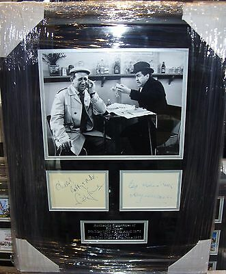 SID JAMES and TONY HANCOCK VINTAGE Signed Montage AFTAL
