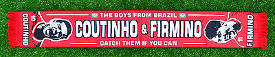 Philippe Coutinho Roberto Firmino Liverpool & Brazil Football Scarf Red