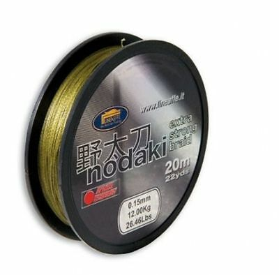 New Nodaki Exra Strong Shock Leader Braid Hook Link Coarse Carp Fishing Line