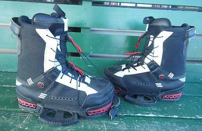 Hyperlite Byerly Wakeboard Bindings Boots Shoes Size 12 Black White Wakesurf