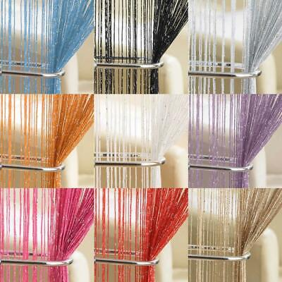 """GLAM STRING DOOR CURTAIN PANEL 37"""" x 79"""" GLITTER BLING VOILE PANEL CUT TO SIZE"""