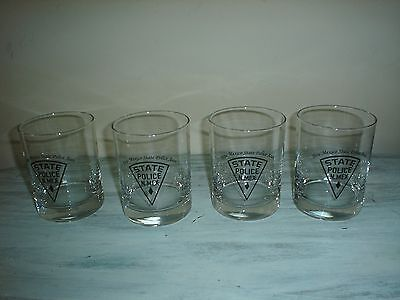 NEW MEXICO (NM) STATE POLICE ASSOCIATION Beverage Glasses (4) Excellent
