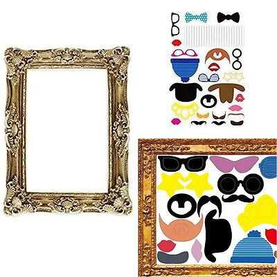24PCS Photo Booth with Large Picture Frame Photo Props Party/Stag Night/Self
