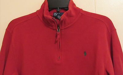 Polo Ralph Lauren Long Sleeve Red 1/2 Zip Pullover Boys Size Large 14-16