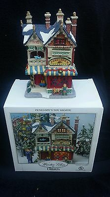 Lemax Penelope's Toy Shoppe Lighted House Winter Glen For Dillards 2002
