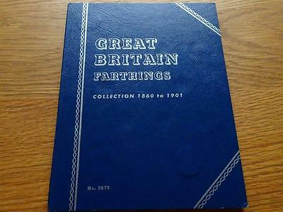 Queen Victoria Farthing Collection 35 Coins In  Whitman Folder 1860 To 1901