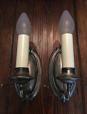 Antique Wall Sconce Fixtures Wired Pair Lights Lighting Antiques 9B