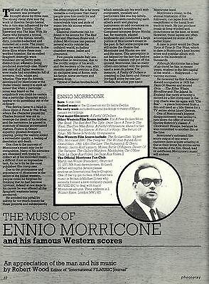 The Music Of Ennio Morricone And His Famous Western Scores Article & Picture(S)