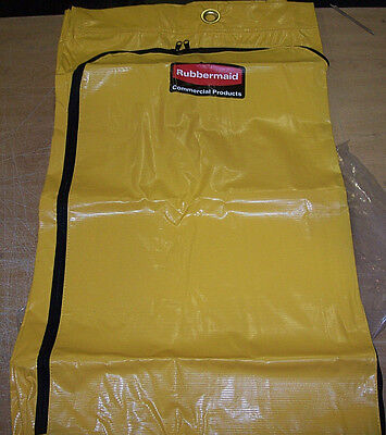 Rubbermaid Commercial 9T80YEL Vinyl Cleaning Cart Bag, 34 gal, Yellow,