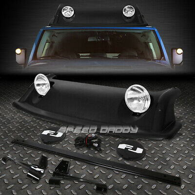For 07-11 Fj Cruiser Oe Style Roof Rack Rugged Offroad Air Dam+Fog Light+Cover