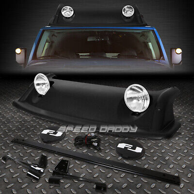 Oe Style Roof Rack Rugged Offroad Air Dam+Fog Light+Cover For 07-11 Fj Cruiser