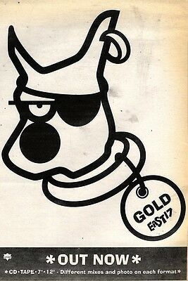 """7/11/92Pgn12 East 17 : Gold Single Advert 7X5"""""""