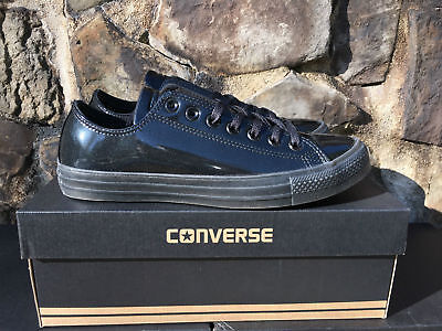 "Converse Chuck Taylor ALL STAR Low Patent Leather Black 153232C ""Tuxedo"" New"