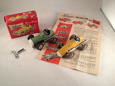 SCHUCO 2 MICRO RACER , MODEL 1041 + MODEL 1040  made in Western Germany '50