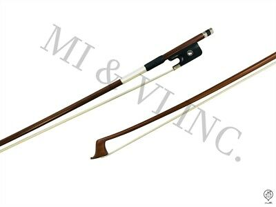 MI&VI Pernambuco Cello Bow Ebony Frog 4/4 - Octagonal Silver Mount Nickel Stick