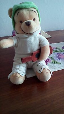 Disney Store Exclusive Limited Edition  Pooh Bear Cricketer Beanie Soft Toy