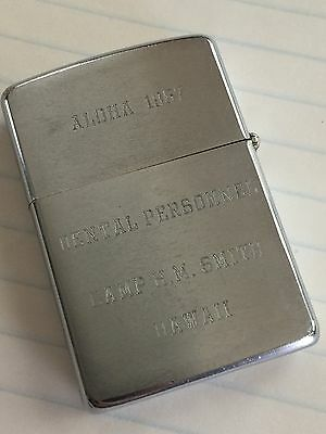 Vintage Personalized 1966 ZIPPO Lighter Viet Nam Marines Camp H M Smith Hawaii