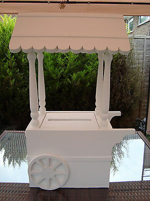 Solid wooden Wedding Candy Cart post box for sale free postage in the uk..