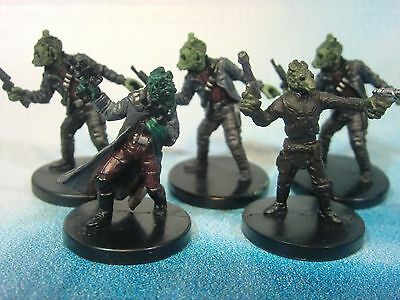 Star Wars Miniatures Lot  Rodian Blaster for Hire !!  s97