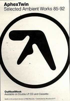 11/12/93Pgn17 Aphex Twin : Selected Ambient Works Album Advert 7X5""