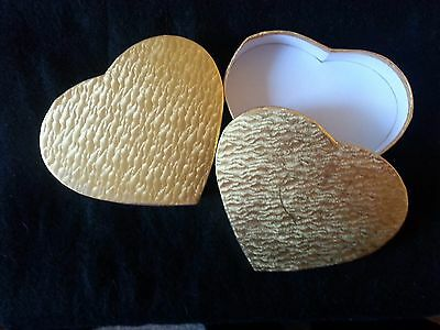Pack of 5 Large Heart Shape Gold Water Mark Gift Boxes - 16cm (6.25 inches)