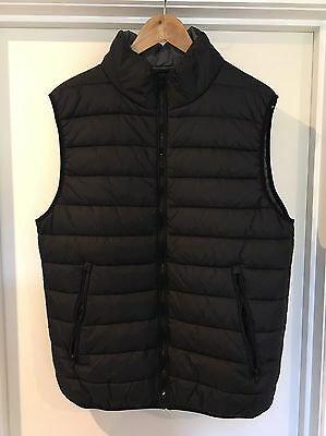 Cotton On - Men's Large Black Puffer Vest Jacket - Brand New (RRP: $79.95)