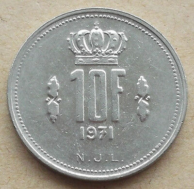LUXEMBOURG 10 Francs coin * 1971 * KM#57 (8C131)