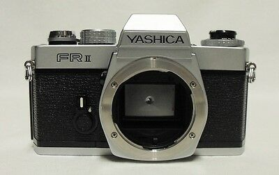 YASHICA FR II 35mm SLR Film Camera Body Only Tested Meter Working Contax Mount
