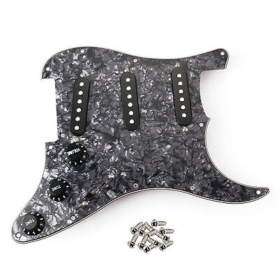 Alnico V Prewired Guitar Pickguard for ST Electric Guitar 1V2T  3 Ply SSS