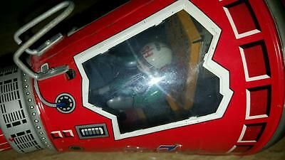 VINTAGE HORIKAWA FRICTION FRIENDSHIP 7 SPACE TIN TOY CAPSULE MADE in JAPAN 1960s