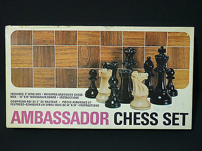 Vintage Ambassador Chess Set Game by Somerville, Made in Canada