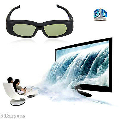 Active Shutter 3D glasses For Samsung Panasonic 3D TV Bluetooth Rechargeable UK