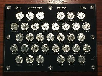 1934 -1945 Short Mercury Dime set Ch/Gem BU All (35) coins