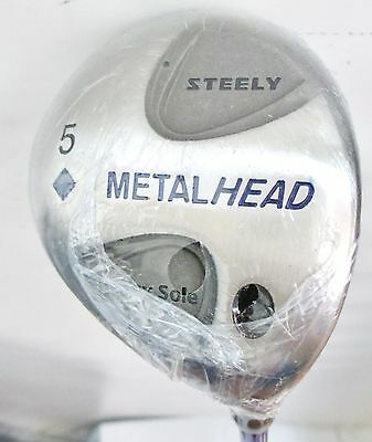 Steely Metal Head Heavy Sole 5 Wood 19* CLS 46 Graphite Shaft R- Flex NEW