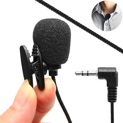 Universal 3.5mm Microphone Hands-free Clip Lapel Wireless For Laptop Notebook PC