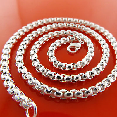 A910 Genuine Real 925 Sterling Silver S/f Solid Unisex Mens Women Chain Necklace