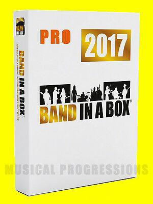 Band In A Box 2017 Pro Windows - Audio Music Software - New In Box - Full Retail