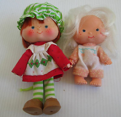 Strawberry Shortcake & Apricot Friend Doll Vintage Pair